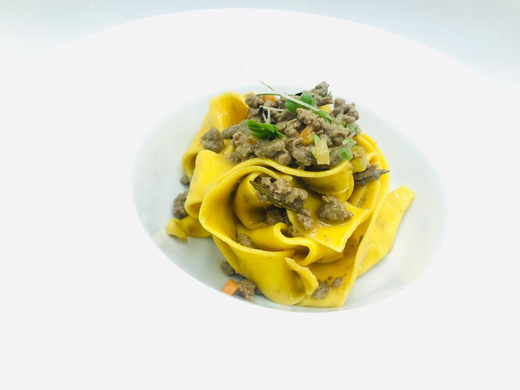 Pappardelle with a white beef ragù